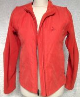 PAGE & TUTTLE  Jacket Vest women's Size Small S Orange Zippered Sleeves  Zip up