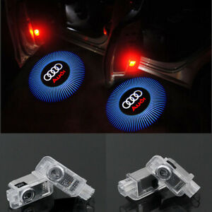 2X LED Logo Light Shadow Projector Car Door Courtesy Laser For Audi A4-A6 R8-Q7