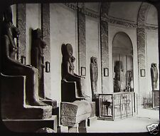 Glass Magic Lantern Slide STATUES EGYPTIAN MUSEUM VATICAN C1890 ROME ITALY ROMA
