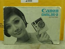 Canon Dial 35-2 Original Instruction Manual In English