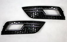 GRILLE FOG LIGHT BLINDS For AUDI A4 B8 8K SALOON AVANT BLACK CHROME