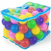 100 Jumbo Multi-Colored Soft Ball Pit Balls with Mesh Carrying Case