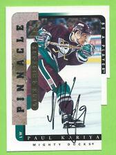 1996-97 Pinnacle Be A Player Link 2 History Signatures #LTH-6B Paul Kariya