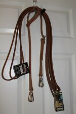 Western Quick Change Leather Headstall and Weaver Reins   NEW
