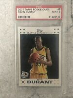 2007 Topps Kevin Durant PSA 9 Rookie #2 RC 50th Anniversary