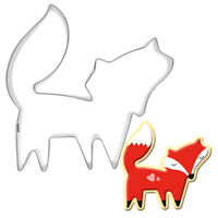Stainless Steel fox Animal Cookie Cutter Cake Decoration Baking Mold Tool NT