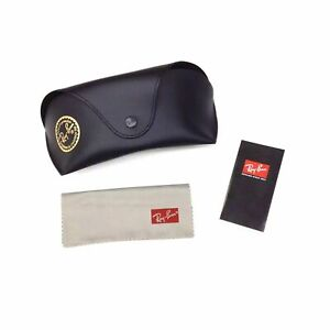 Ray Ban Sunglasses Eyeglass Case Snap Belt Loop w/Cleaning Cloth & Book New