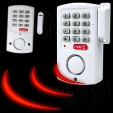 2 x Tür- und Fensteralarm DRAHTLOS Bewegungsmelder Sicherheits Code Alarm Anlage
