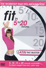 Fit In 5 To 20 Minutes - Latin Fat Buster - (DVD) - Brand New & Sealed
