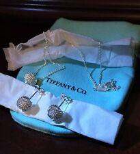 $375 Tiffany & Co. Sterling Silver 925 Twist Knot Rope Earrings & Pendant Set