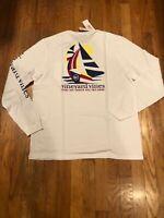 NWT Men's Vineyard Vines LS Geo Sails Whale Pocket T-Shirt Size Medium $48.00