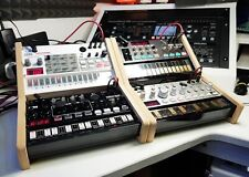 More details for dual korg volca mdf stand precision machined series with recess from synths and
