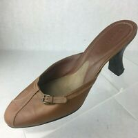 Cole Haan City Womens Light Brown Tan Shoes Slip On Heel Mules Size 8.5 B