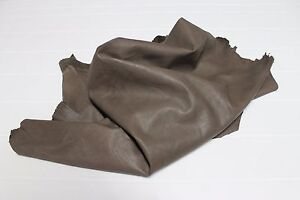 Italian soft Lambskin lamb leather hide NATURAL TAUPE BROWN 5+sqf #A2527
