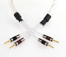 2 x 2m QED GENESIS Signature SILVER SPIRAL Speaker Cable AIRLOC Forte Terminated