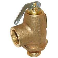 """VALVE STEAM PRESSURE SAFETY  RELIEF 3/4"""" NPT Brass 30 PSI 550 LB/HR 561315"""