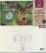 Österreich 5 Euro Silber GM 2011 Land der Wälder handgehoben im Blister