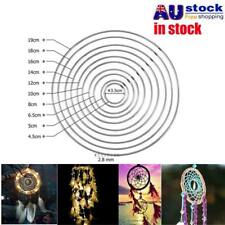 35-190mm DIY Dream Catcher Hoop Ring Metal Hanging Decor Craft Pendant Handmade