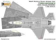 RAM Panels Paint Mask for F-35A Lightning II Italeri 2506 1/32 scale DN Models