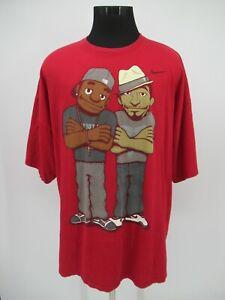 P6732 VTG Nike Kobe Bryant Lebron James Puppets Character T Shirt Size 3XL