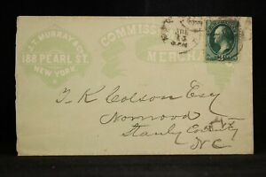 New York: New York City 1870s Commission Merchant Allover Advertising Cover