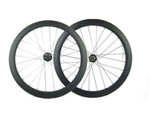 Disc Brake Carbon Bike Wheel 50mm Tubular Cyclocross wheel 23mm Wide Novatec Hub