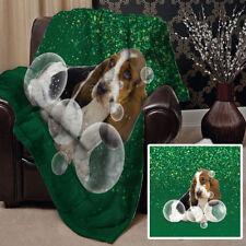 Édredons et couvre-lits verts en polyester