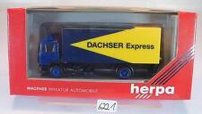 Herpa 1/87 866004 MAN LKW Koffer Dachser Express OVP #6221