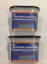 2 Charcoal Moisture Eliminator Absorber Black Trim Self Contain Traps Odors