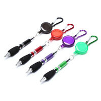 1pc Retractable Golf Pen Recording Score with Carabiner Random Color en