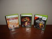 Lot of 3 XBox 360 Games Red Faction Guerrilla;Resident Evil; Battlefield 3