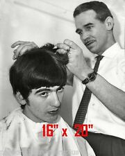 "George Harrison~Hair Salon~Spa~Barber~Photo~Rockabilly~Stylist~Beatles~16"" x 20"""