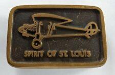 SPIRIT OF ST. LOUIS AIR PLANE AVIATION HISTORY LINDBERGH VINTAGE BELT BUCKLE