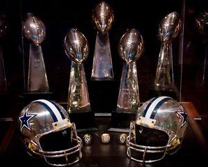 Dallas Cowboys Super Bowl Trophies photo - select size