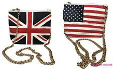 Ladies Womens Girls Union Jack USA Shoulder bag Coin Cards Money Purse Pouch