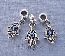 3 pieces Pendants Dangle Charms Hamsa Hand Palm Fits Euopean charm bracelet C117
