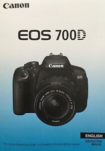 Canon EOS 700D Manual - Printed & Professionally Bound Size A5 - NEW 366 Pages