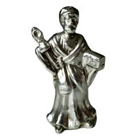 King 2 Home for the Holidays Silver Plated Porcelain Christmas Nativity Figurine