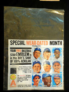 1961 Chemstrand Acrilan Shirt Bag Ernie Banks Killebrew Nellie Fox Kaline Mays