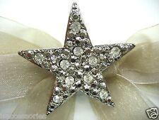 Silver Stars Swarovski Element Austrian Crystal Rhinestone Brooch Pin