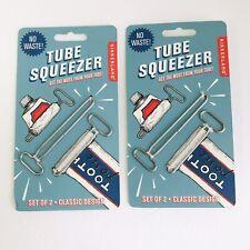 New 2 Sets Of 2 Tube Squeeze Keys (4) Kikkerland