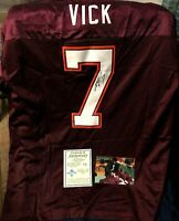Michael Vick autographed signed Virginia Tech authentic Nike stitched jersey COA