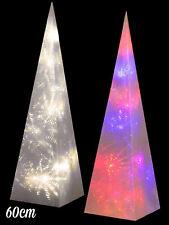 60cm Pre Lit Christmas Pyramid Light Up LED Xmas Decoration Modern Tree Festive