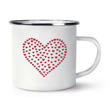 Heart Of Hearts Retro Enamel Mug Cup - Valentines Day Love