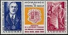 "ANDORRE FRANCAIS STAMP TIMBRE 225A "" GENERAL DE GAULLE , TRYPTIQUE "" NEUF xx TTB"