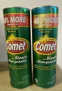 1 Comet With Bleach 48% More 16.8 Oz Scratch Cleaner Free