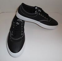 Mens 9 Womens 10.5 CONVERSE Crimson Canvas OX Sneakers Shoes Black New 153465C