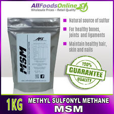 MSM - Methyl Sulfonyl Methane - Bone, Joint and Ligament Support - Pure - 1kg