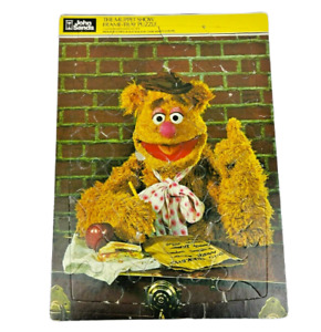 The Muppet Show 1979 Fozzie Bear 30 Piece Frame Tray Puzzle Rare John Sands