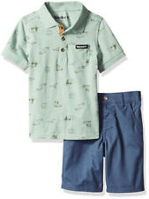 Timberland Boys Jade Green Polo 2pc Short Set Size 2T 3T 4T 4 5 6 7